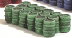 HN646 - Harburn Green Oil/Chemical Drums, Grouped, N Scale